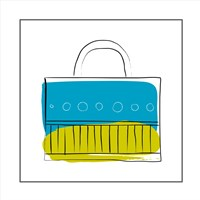Blue and Green Purse Fine Art Print