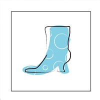 Blue Boot Fine Art Print