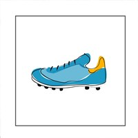 Blue Cleat Fine Art Print