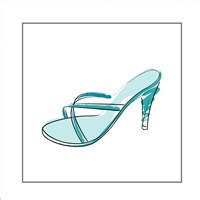 Blue High Heel Sandal Fine Art Print