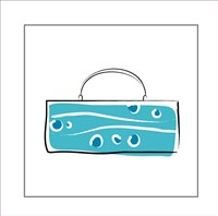 Blue Purse Fine Art Print