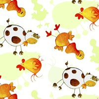 Cows and Ducks Fine Art Print