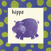 Hippo with Border Fine Art Print