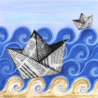 Paper Boats Fine Art Print