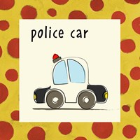 Police Car with Border Fine Art Print
