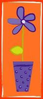 Purple Flower in Purple Pot Fine Art Print