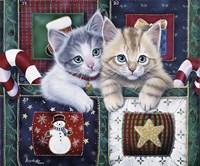 Christmas Calendar Kittens Fine Art Print