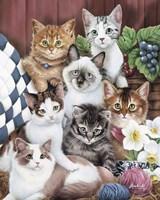 Cuddly Kittens Fine Art Print