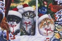 Cats In Window Fine Art Print