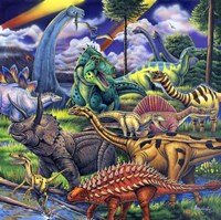 Dinosaur Friends Fine Art Print