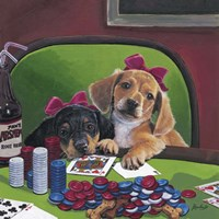 Poker Dogs 3 Fine Art Print