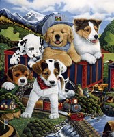 Choo Choo Puppies Fine Art Print