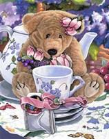 Tea Party Bear 1 Fine Art Print