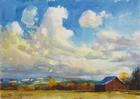 Lonesome Barn Fine Art Print