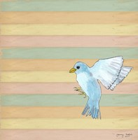 Flying Blue Bird Fine Art Print