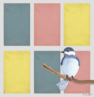 Rectangles And Blue Bird Fine Art Print