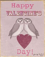 Valentine's Day Owls Fine Art Print