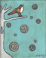 Peace Sign Bird Fine Art Print