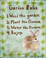Garden Rules Framed Print