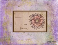 F is For Flower Fine Art Print