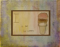 I is For Ice Cream Fine Art Print