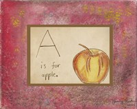 A is For Apple Fine Art Print