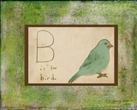 B is For Bird Fine Art Print