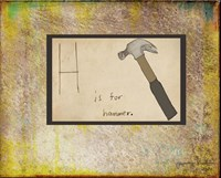 H is For Hammer Fine Art Print