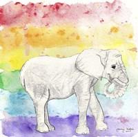 Rainbow Elephant Framed Print