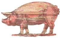 Pig Cut Out Fine Art Print