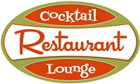 Restaurant Cocktail Lounge Fine Art Print