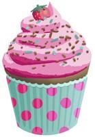 Chocolate Cupcake Pink Fine Art Print