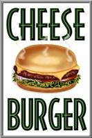 Cheese Burger Vertical Fine Art Print