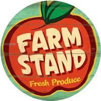 Farm Stand Round Fine Art Print
