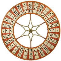 Gambling Wheel - Dominoes Fine Art Print