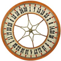 Gambling Wheel - Wood Fine Art Print