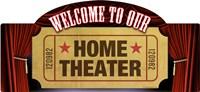 Home Theater Marquee Fine Art Print