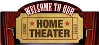 Home Theater Marquee Fine Art Print