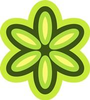 Mod Flowers Cut out Green Fine Art Print