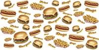 Burgers Fries Dogs Fine Art Print