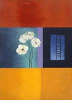 White Flower Abstract 1 Framed Print
