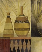African Vases II Framed Print