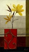 Yellow Blooms II Framed Print
