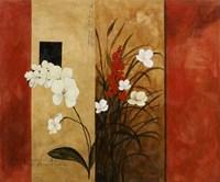 Asian Floral I Framed Print