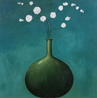 Vase on Blue Fine Art Print
