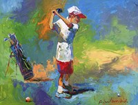 Kid Golf Fine Art Print