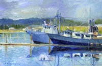 Fishing Boats On Oregon Coast Fine Art Print