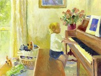 Grant Playing The Piano Fine Art Print