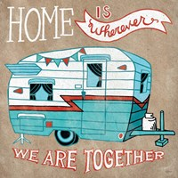 Adventure Love Camper Taupe Fine Art Print