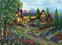 Chalet Gardening Fine Art Print
